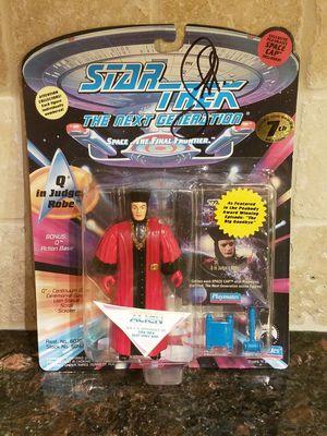 Star Trek: The Next Generation - Q Action Figure Autographed by John DeLancie for Sale in Phoenix, AZ