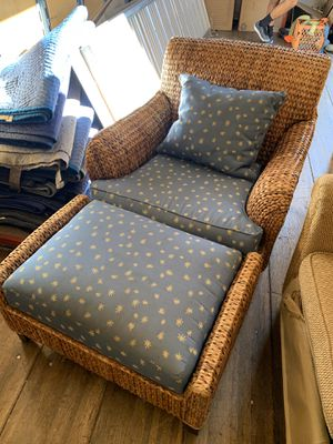 Big chair and ottoman for Sale in Santa Cruz, CA