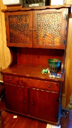 Wood cabinet for Sale in Hiattville, KS