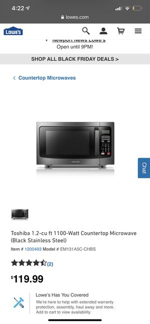Toshiba Microwave for Sale in Newport News, VA