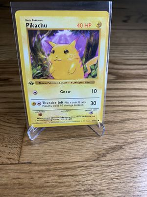 Pokemon 1st Edition Shadowless Pikachu Yellow Cheeks 58/102 1999 Game Base Set proxy mint condition psa 10 gem mint ? for Sale in Paramount, CA