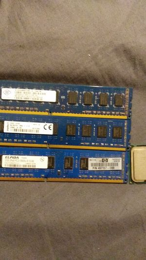 Ddr3 ram and intel pentium cpu for Sale in Lucedale, MS