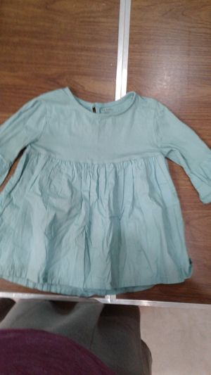 Girls Carter's size 6 teal shirt with bell sleeves for Sale in Lake Worth, FL