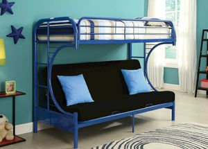 Global Erica Blue Metal Twin/Futon Bunk Bed for Sale in Adelphi, MD