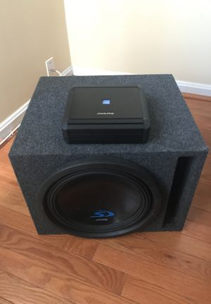 Alpine Subwoofer and Amplifier for Sale in West Springfield, VA