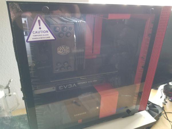 Computer NZXT H200 Intel i5-8600k 6 core cpu 4.3GHz GTX 1080 FTW2