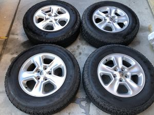 Kelly Edge AT 245/70/17 & Jeep Cherokee 17x8 5x114.3 Wheels for Sale in Las Vegas, NV