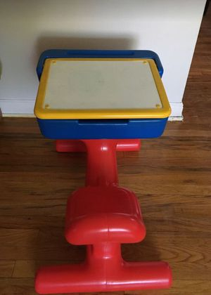 Desk #2 Vintage Today's Kids Fisher Price School desk. PERFECT desk for your preschooler or toddler! It comes with the seat attached in bright prima for Sale in Riverside, IL