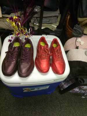 Purple Reebok's size 7 1/2, red Reebok's size 7 $50 a pair for Sale in Swissvale, PA