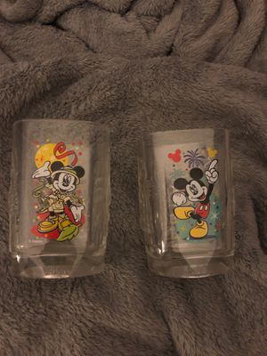 Disney collectable 2010 glass cups for Sale in City of Industry, CA