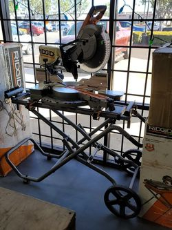 Ridgid 12inch Mitter With Stand Setup for Sale in Westminster,  CA