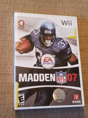 Madden NFL 07 - Wii Game includes the instruction manual for Sale in Chambersburg, PA