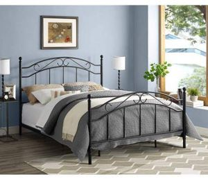 DOREL Mainstays Full/Queen Black Metal bed frame headboard footboard for Sale in Tampa, FL