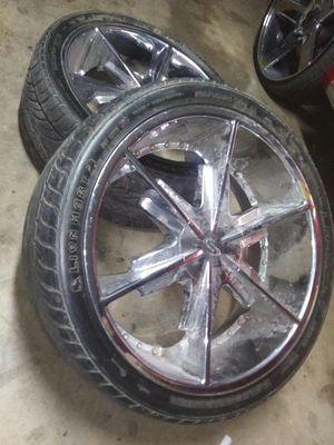 Set of 24. Inch Rims for Sale in Abilene, TX