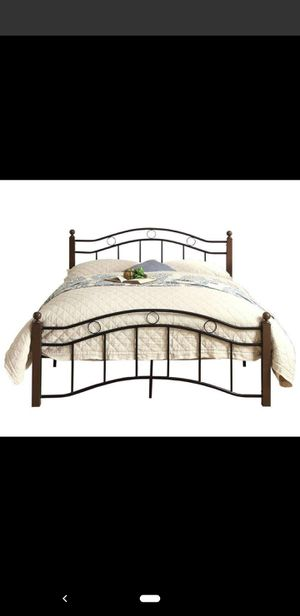Used Twin Bed Frame and Desk for Sale in New Brunswick, NJ