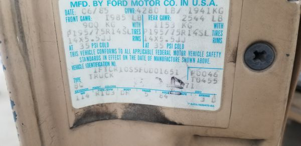 1985 Ford Ranger