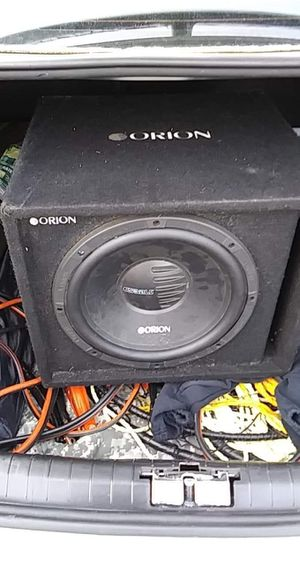 Orion cobalt in nice box with 500w mono Memphis amp for Sale in Tacoma, WA