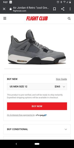 Jordan retro 4 cool grey sz12 for Sale in Twinsburg, OH