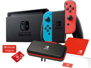 Nintendo Switch Neon Blue/Red Costco Bundle for Sale in Westlake, MD