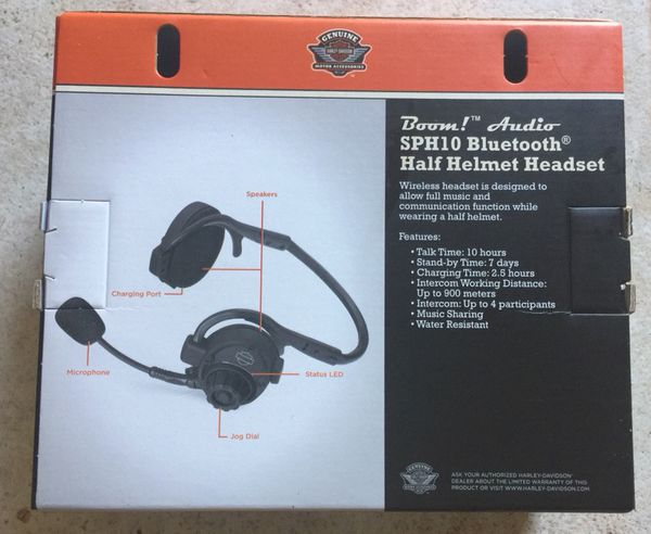 6529382cc57 Harley Davidson NEW Bluetooth Half Helmet Headset SPH10 for Sale in ...