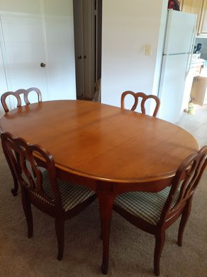 Dining room table, chairs and buffet for Sale in Trenton, NJ