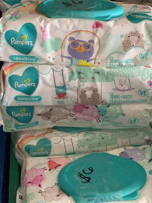 3 pack of pampers WIPES 56 count each $6 located by 7 avenue and broadway IHAVE A LOT for Sale in Phoenix, AZ