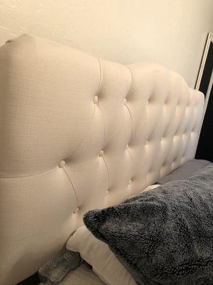 Queen bed frame and memory foam mattress topper for Sale in Gilbert, AZ