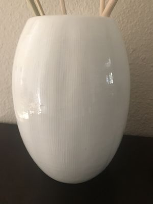 Vintage White Ceramic Vase for Sale in Irvine, CA
