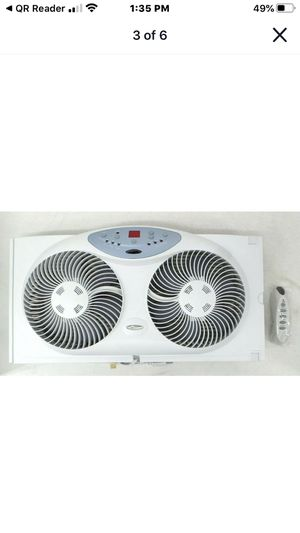 Bionaire Remote Control Dual Window Fan With Programmable Thermostat BWF0190-WCU for Sale in Apple Valley, CA
