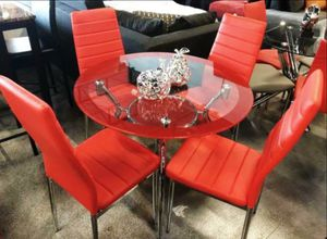 dining set 4 chairs Red for Sale in Miami Gardens, FL