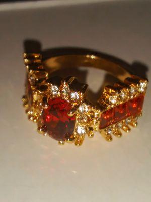 GOLD FILLED ORANGE CZ RING for Sale in Lawton, OK