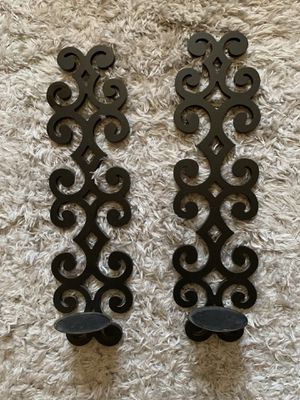 Set of Wall Candle Holders- wooden for Sale in Antioch, CA