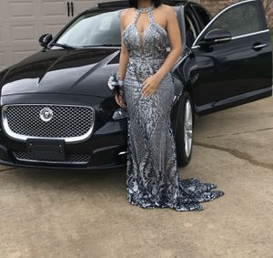 Glitter and Glam medium size back out prom dress. Like new! for Sale in Jacksonville, AR