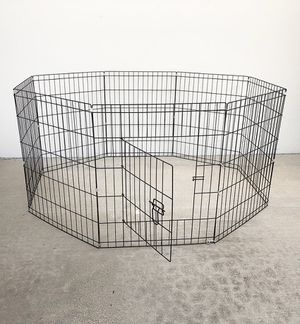 "(NEW) $35 Foldable 30"" Tall x 24"" Wide x 8-Panel Pet Playpen Dog Crate Metal Fence Exercise Cage Play Pen for Sale in South El Monte, CA"