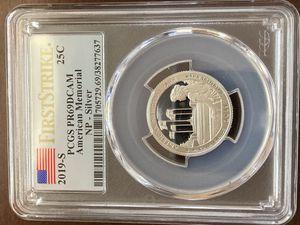 2019 S American Memorial Park Silver Quarter PCGS PR 69 DCAM for Sale in Starkville, MS