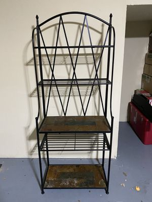 Metal and stone baker's rack for Sale in Euless, TX