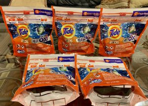 5 Tide Pods Oxi 12 cts for Sale in Lorton, VA