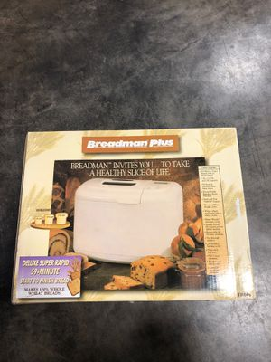 Breadman Plus Bread Maker for Sale in Joliet, IL