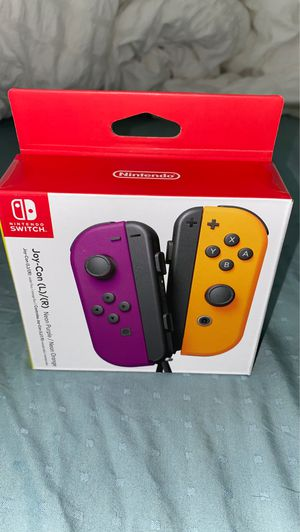 Nintendo Neon Purple/ Neon Orange Joy-Con (L-R) - Switch for Sale in Frisco, TX