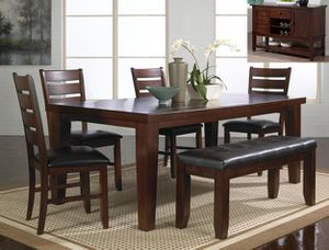 🌈Bardstown Cherry Extendable Dining Set ( 3-6 days Delivery)🌈 for Sale in Jessup, MD