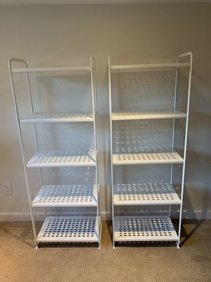 Two white metal shelves IKEA for Sale in Seattle, WA