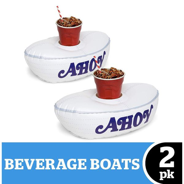 Stranger Things Scoops Ahoy Hat Cup Can Holder Inflatable Pool Boat Floats NEW