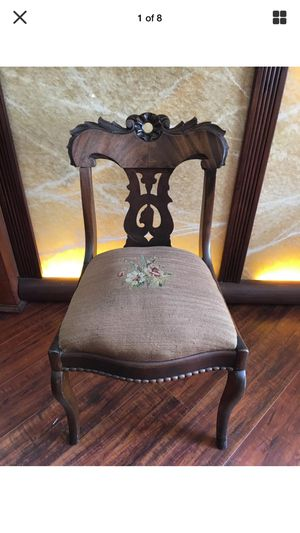 French antique needlepoint accent chair for Sale in Los Angeles, CA