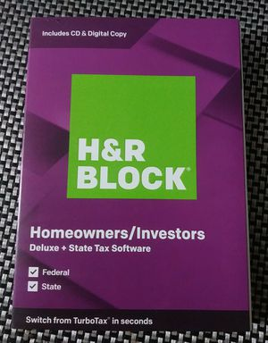 H&R Block Homeowners/Investors Deluxe + State Tax Software CD & Digital Copy for Sale in Orange, CA