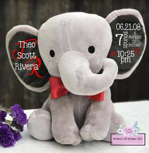 Personalised Elephant Stat plushy for Sale in Rancho Cucamonga, CA