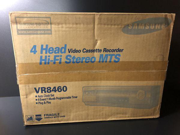 SAMSUNG VR8460 4 head hi-fi stereo MTS VHS Player