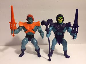 1981 Faker + Skeletor - Taiwan - Complete - MOTU Masters Universe Heman - Vintage Action Figure Toy Mattel for Sale in Chicago, IL