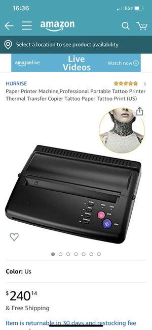 Paper Printer Machine,Professional Portable Tattoo Printer Thermal Transfer Copier Tattoo Paper Tattoo Print (US) for Sale in Norwalk, CA