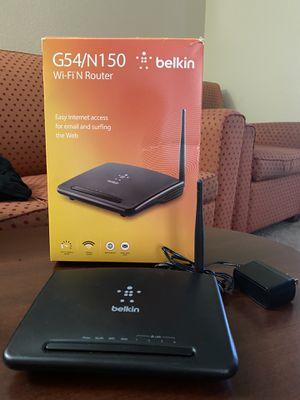 G54/N150 belkin wifi n router F9K1009V2 for Sale in Plano, TX