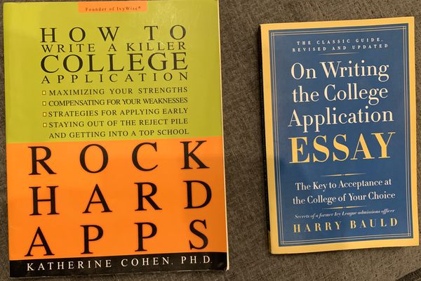 College essay and application writing books